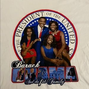 EUC Barack Obama First Family short sleeve 3XL